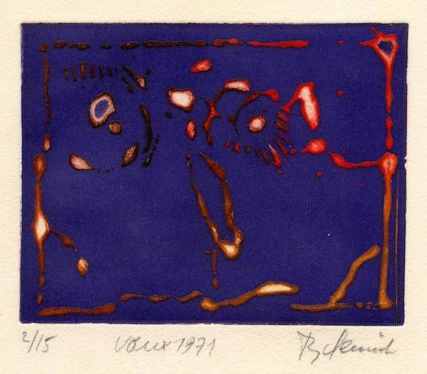 Roger Dewint - Voeux 1971 - Gravure