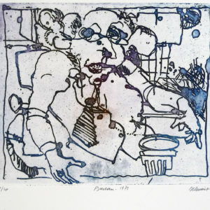Roger Dewint - Bureau - Gravure