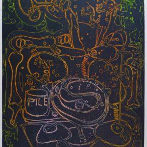 Roger Dewint - Gravure - La pile