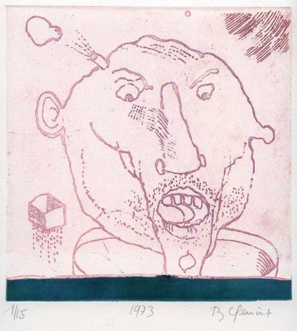 Roger Dewint - Figure - Gravure
