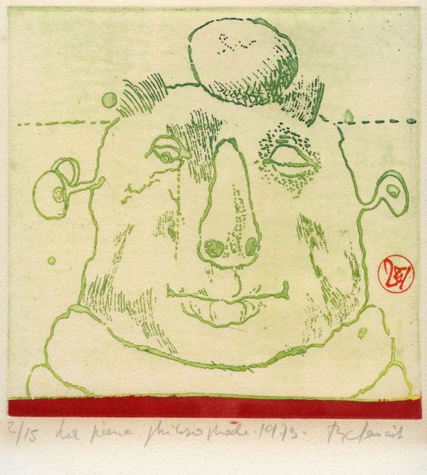 Roger Dewint - La pierre philosophale - Gravure