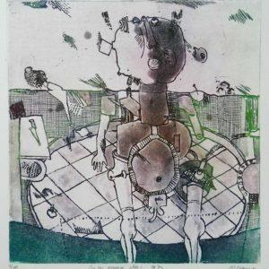Roger Dewint - En un espace clos - Gravure