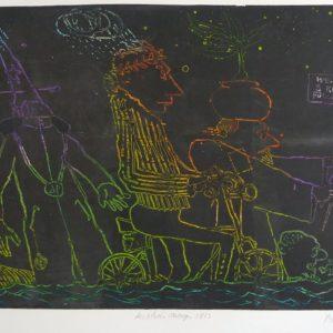 Roger Dewint - Les 3 Rois mages - Gravure