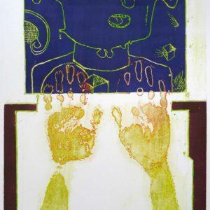 Roger Dewint - Les mains sales - Gravure