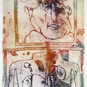 Roger Dewint - En deux - Gravure