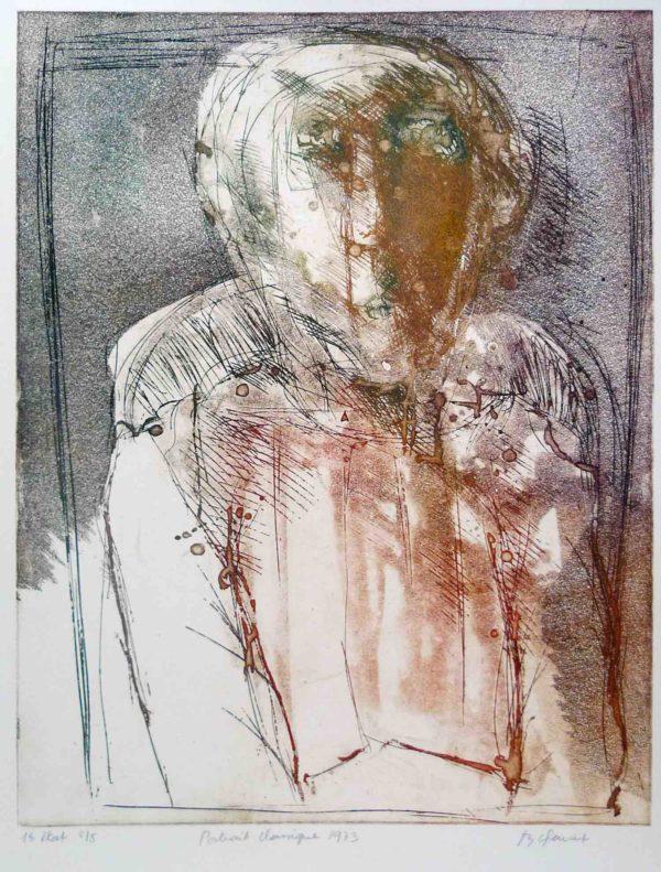 Roger Dewint - Portrait classique - Gravure