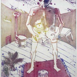 Roger Dewint - Debout - Gravure