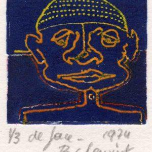 Roger Dewint - De face - Gravure