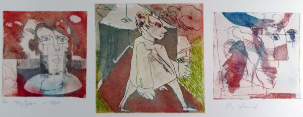 Roger Dewint - Triptyque - Gravure