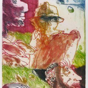 Roger Dewint - Horizon peuplé - Gravure