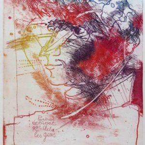 Roger Dewint - Portrait commenté - Gravure