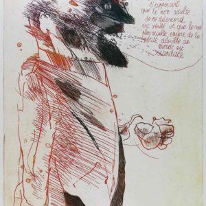 Roger Dewint - Vue occulte - Gravure