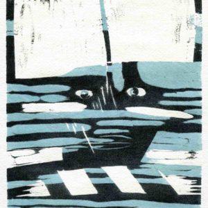 Roger Dewint - En bleu - Gravure