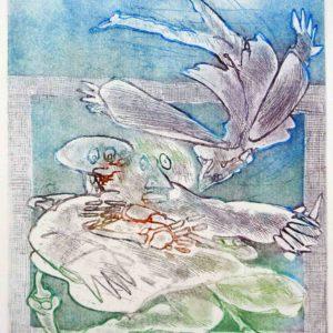 Roger Dewint - La résurrection - Gravure