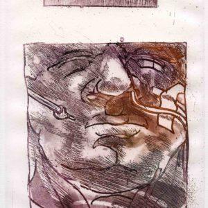 Roger Dewint - Rien en vue - Gravure