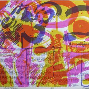 Roger Dewint - Du feu du soleil de la flamme - Gravure