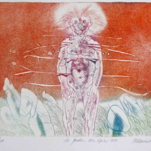Roger Dewint - Le jardin des épices - Gravure