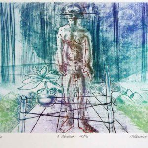 Roger Dewint - L'absent - Gravure