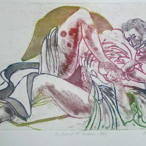 Roger Dewint - Le champ de cinabre - Gravure