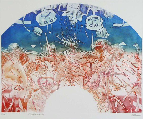 Roger Dewint - Eventail 2 - Gravure