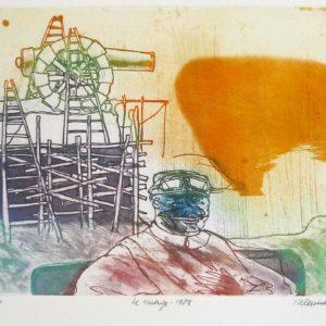 Roger Dewint - Le nuage - Gravure