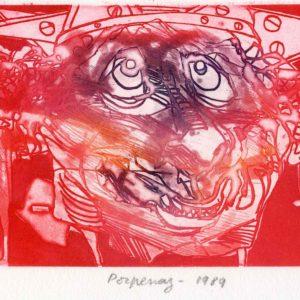 Roger Dewint - Porpenaz - Gravure