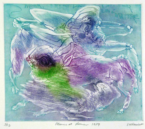 Roger Dewint - Plumes et plumes - Gravure
