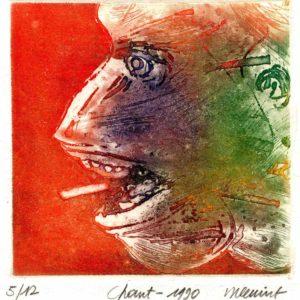 Roger Dewint - Chant - Gravure