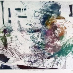 Roger Dewint - Pensées désertiques - Gravure