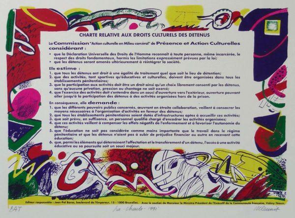 Roger Dewint - Charte - Gravure