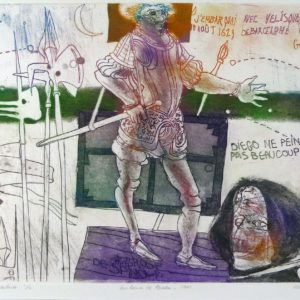 Roger Dewint - Les lances de Breda - Gravure