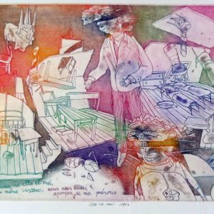 Roger Dewint - Elle et moi - Gravure