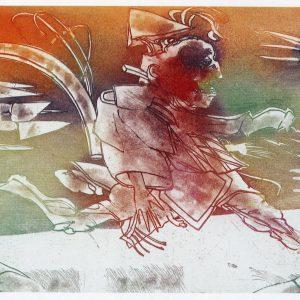 Roger Dewint - Le saute-ruisseau - Gravure