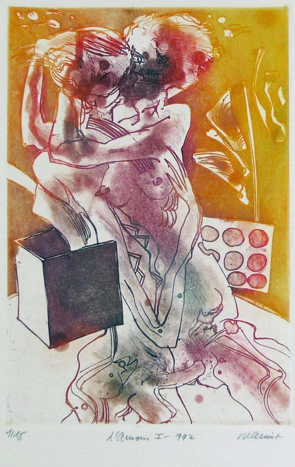 Roger Dewint - L'amour I - Gravure