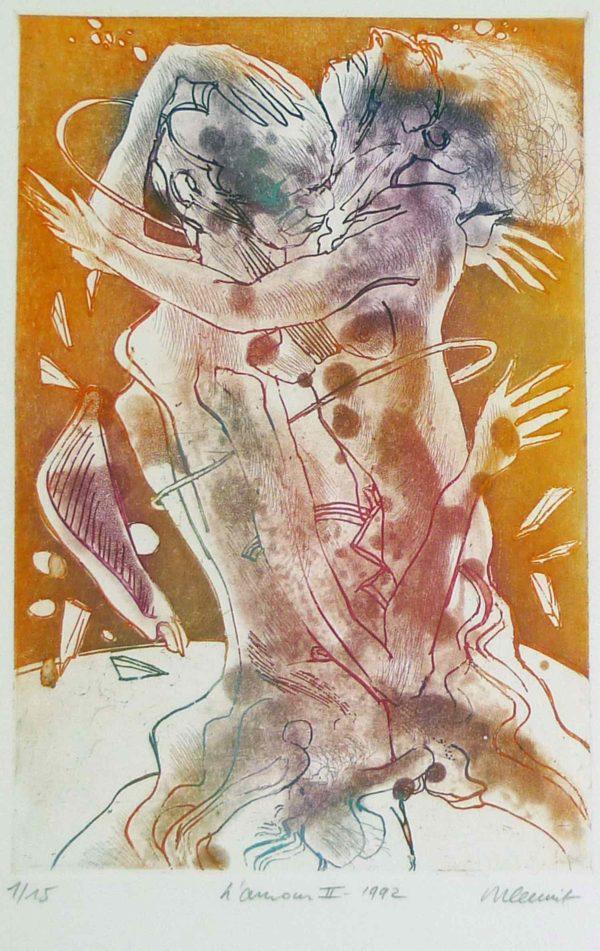 Roger Dewint - L'amour II - Gravure