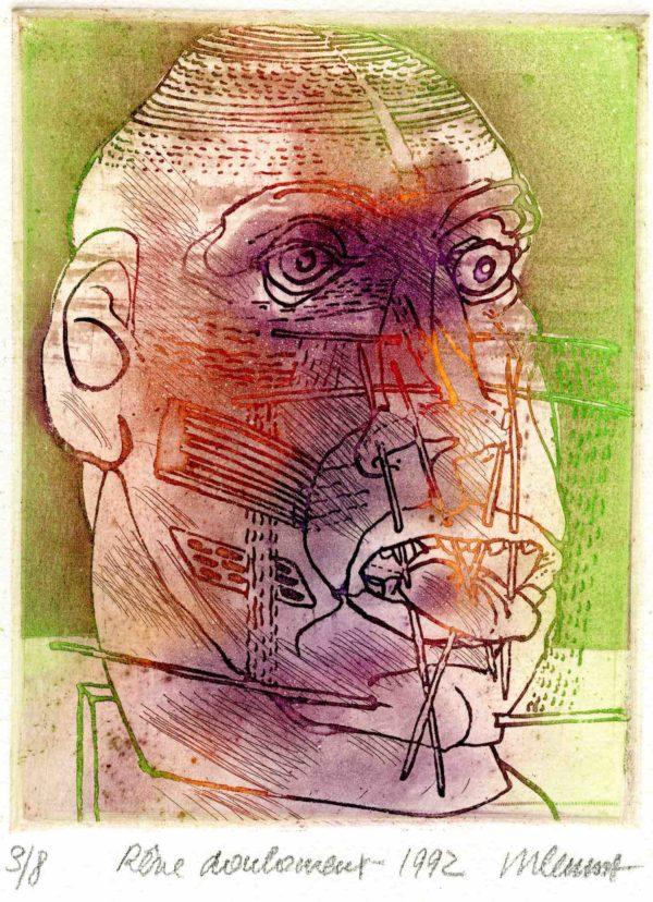 Roger Dewint - Rêve douloureux - Gravure