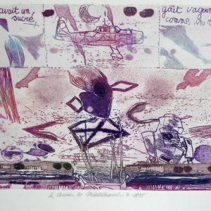 Roger Dewint - Le chemin de Middelharnis II - Gravure