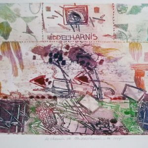 Roger Dewint - Le chemin de Middelharnis III - Gravure