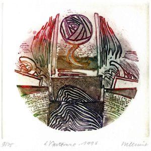 Roger Dewint - L'automne - Gravure