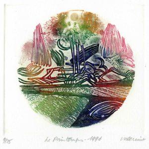 Roger Dewint - Le printemps - Gravure