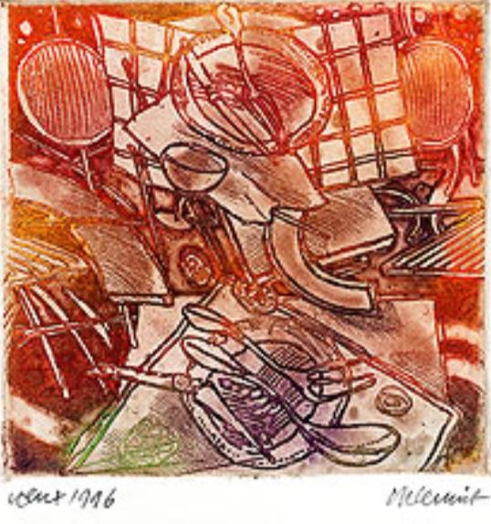 Roger Dewint - Voeux 1996 - Gravure