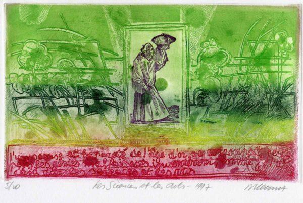 Roger Dewint - Bois d'Holbein Les sciences et les arts - Gravure