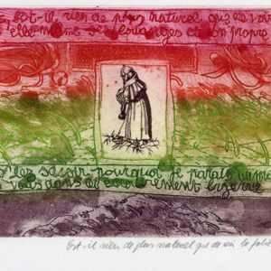 Roger Dewint - Bois d'Holbein Est-il rien de plus naturel que de voir la folie - Gravure