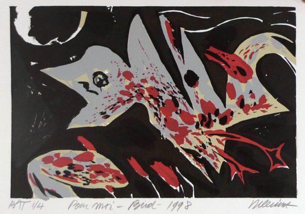 Roger Dewint - Pour moi Bird - Gravure