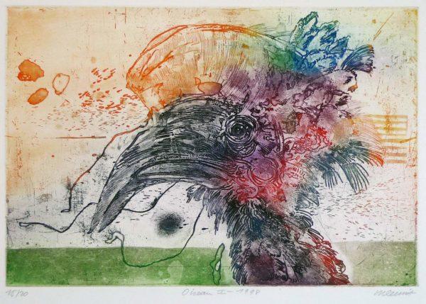 Roger Dewint - Oiseau I - Gravure