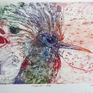 Roger Dewint - Oiseau II - Gravure