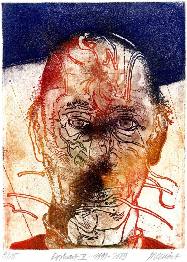 Roger Dewint - Portrait II - Gravure