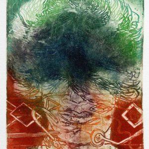 Roger Dewint - Portrait IV - Gravure