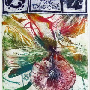 Roger Dewint - Fleur jaune - Gravure