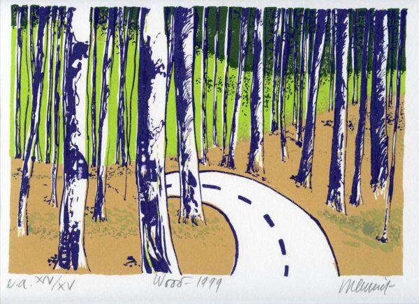 Roger Dewint - Wood - Gravure
